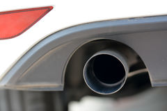 Car exhaust pipe. Close shot of a car exhaust pipe Royalty Free Stock Image