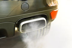 Car  exhaust pipe. Close up of a car  exhaust pipe Royalty Free Stock Photo