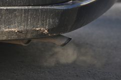 Car exhaust pipe. Detail of car exhaust pipe Stock Photography