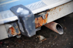 Car exhaust pipe Stock Images