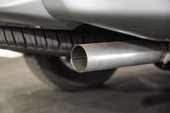 Car exhaust pipe. / part of car Royalty Free Stock Images