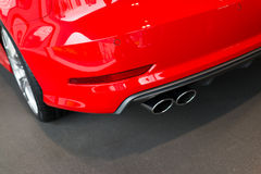 Car exhaust pipe Stock Photography
