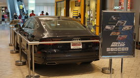 Car exhibit at The Mall at Short Hills in New Jersey. It is one of the most expensive malls in the US with 160 specialty stores of international and luxury Stock Photography