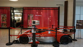 Car exhibit at The Mall at Short Hills in New Jersey. It is one of the most expensive malls in the US with 160 specialty stores of international and luxury Royalty Free Stock Photo
