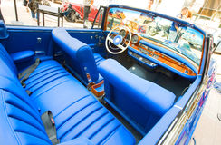 Car exhibition at Bucharest Classic Car Show Royalty Free Stock Photo