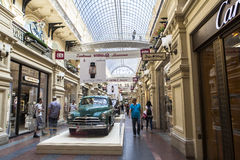 Car exhibition in Gum Department Store in Moscow Stock Images