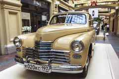 Car exhibition in Gum Department Store in Moscow Royalty Free Stock Photos