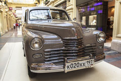 Car exhibition in Gum Department Store in Moscow Stock Photo