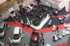 Car Exhibition at the Mall Stock Images