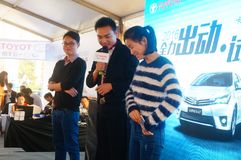 The car exhibition scene, the magic show. In Shenzhen, China Royalty Free Stock Images