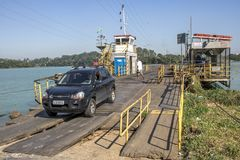 Free Car Exit Of Ferry Boat Stock Photography - 114639462