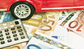 Car expenses - concept Royalty Free Stock Images