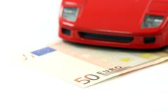 Car expenses and money Stock Images