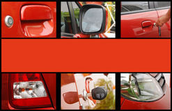 Car exterior collage. With space to write something Royalty Free Stock Image