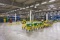 Car factory warehouse Stock Photography