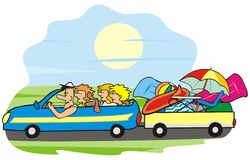 Car and family Royalty Free Stock Images
