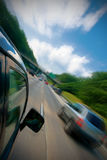 Car fast drive Stock Image