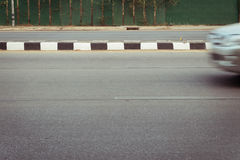 Car fast motion blurred driving Royalty Free Stock Image
