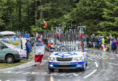 The Car of FDJ.fr Team - Tour de France 2014 Stock Photo