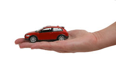 Car on female hand Stock Photography