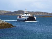 Car ferry arriving in port Stock Photos
