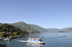 Car ferry at Bellagio on Lake Como Stock Photography