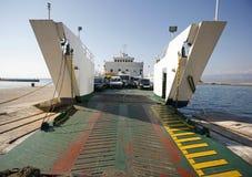 Car ferry boat in Croatia Royalty Free Stock Photo