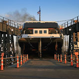 SS Badger Car Ferry Boat Ramp Royalty Free Stock Images