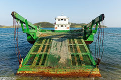 Car ferry boat in Vietnam linking the islands to mainland Royalty Free Stock Photography