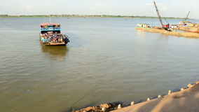 Car Ferry in Cambodia stock video footage