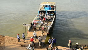 Car Ferry in Cambodia stock footage