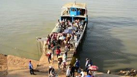 Car Ferry in Cambodia stock video