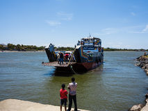 Car ferry Che Guevara to Ometepe Island royalty free stock images