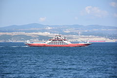 Car ferry. Ferry croatia automobile boat car carrier carrying city coast coastal commerce connecting connection stock photography