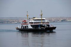Car ferry crosses the Dardanelles Stock Photography