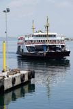 Car ferry crosses the Dardanelles Royalty Free Stock Images