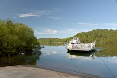 Car Ferry Crossing Windermere From Bowness To Sawrey, Lake District Royalty Free Stock Images