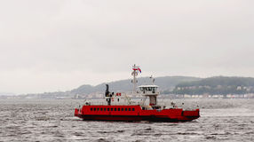 The car ferry at dunoon in scotland Royalty Free Stock Images