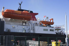 Car ferry with lifeboats Royalty Free Stock Photos