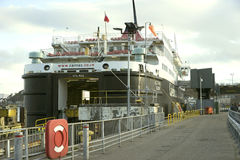 Car ferry loading cargo Stock Images