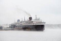 Car Ferry at Luddington, Michigan Royalty Free Stock Photos