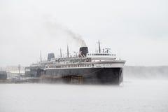 Car Ferry at Luddington, Michigan Royalty Free Stock Photos