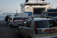 Car ferry, Naples, Italy. Royalty Free Stock Photography