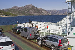 Car ferry in Norway Royalty Free Stock Photography