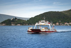 Car ferry in a picturesque bay Stock Images