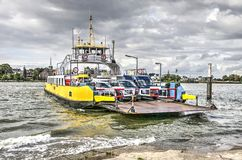 Car ferry on the river Lek royalty free stock photography
