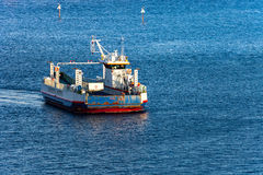 Car ferry at sea stock image