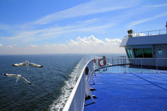 Car ferry on the sea Stock Images