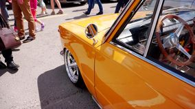 Car Festival in the city of Tula. Russian Federation. Summer 2015. stock video footage