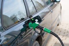 Car fill up fuel at gas station Royalty Free Stock Photos
